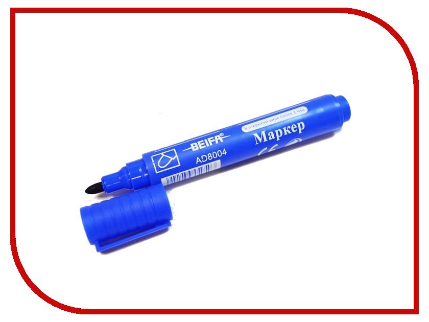 Маркер Beifa Перманентный 1.5-3mm Blue AD8004-BL 3mm
