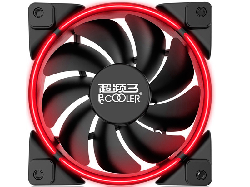 Вентилятор PCcooler Corona 120mm Red