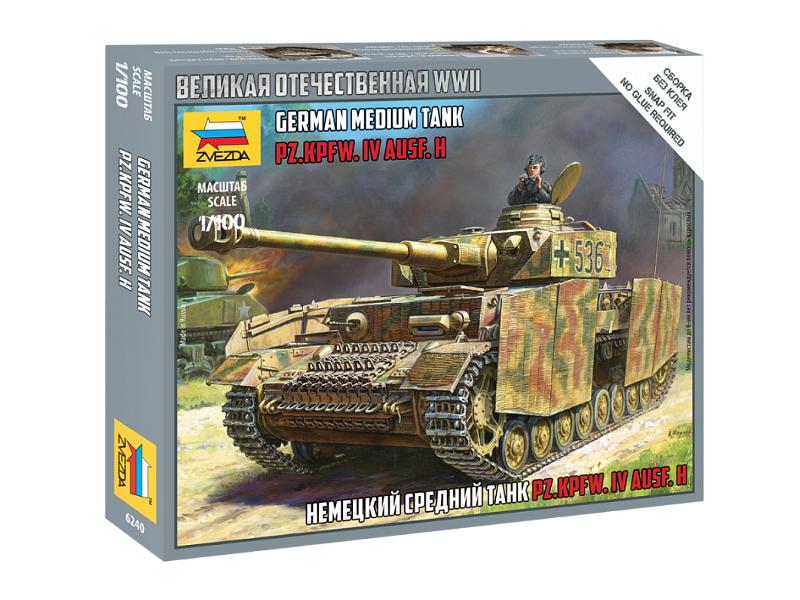 Сборная модель Zvezda Немецкий средний танк Т-4H 6240