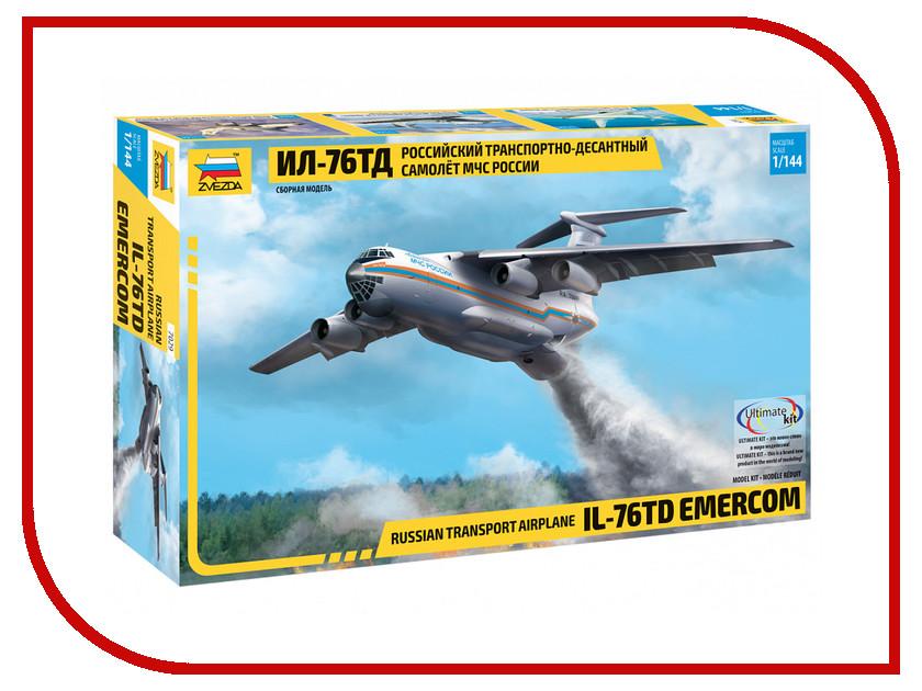 Сборная модель Zvezda Российский транспортно-десантный самолет МЧС России Ил-76ТД МЧС 7029 модель для склеивания zvezda 7307 российский учебно боевой самолет як 130