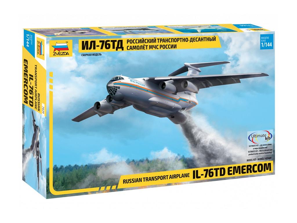 Сборная модель Zvezda Российский транспортно-десантный самолет МЧС России Ил-76ТД 7029