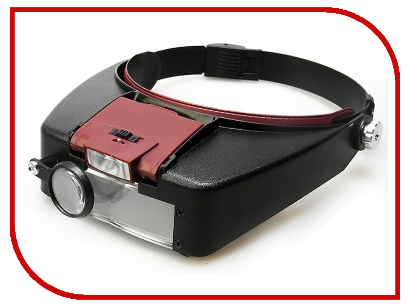 Лупа налобная Kromatech MG81007-A 1.5x/3.0x/8.5x/10.0x с подсветкой 2 LED 23091b015