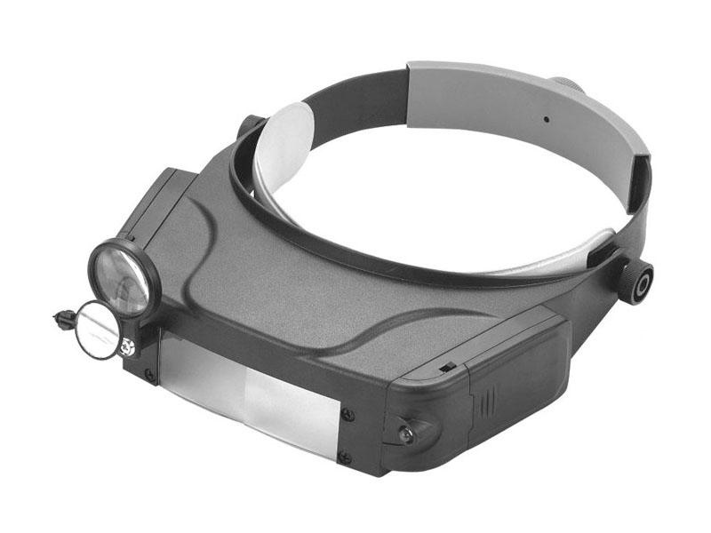 Лупа налобная Kromatech MG81007-C 1.5x/3.0x/9.5x/11.0x с подсветкой 2 LED 23091b014 цена и фото