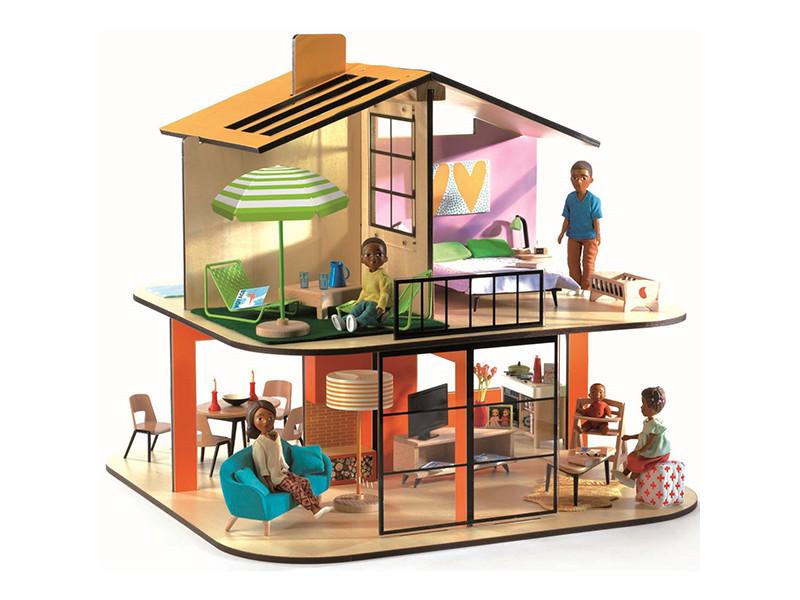 Кукольный домик Djeco Дом цветной 07803