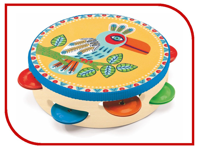 Детский музыкальный инструмент Djeco Тамбурин 06005 детский музыкальный инструмент china bright музыкальные инструменты 1492649