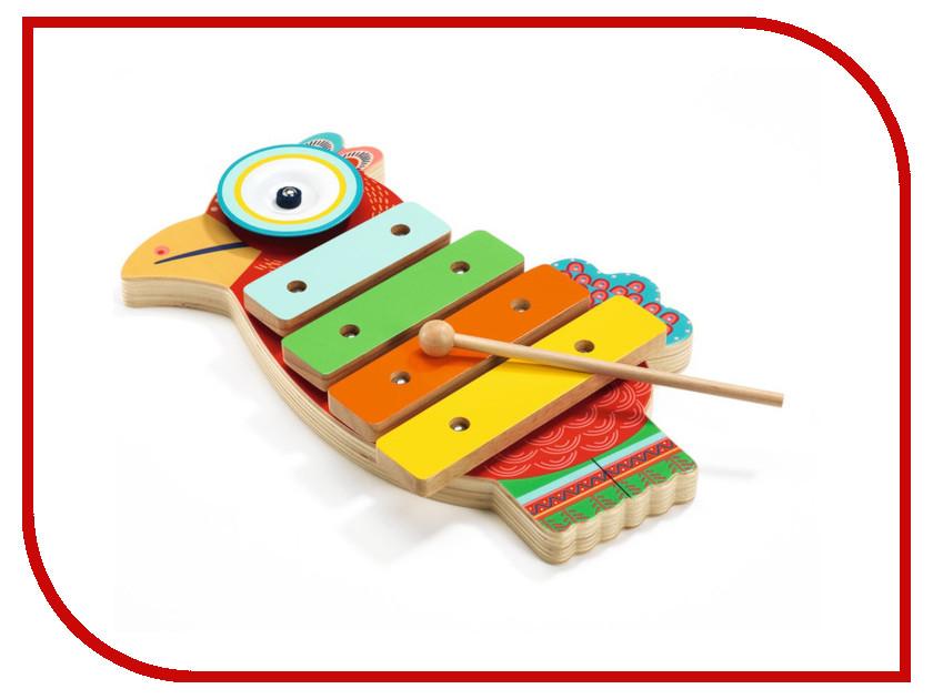 Детский музыкальный инструмент Djeco Ксилофон-кимвал Петушок 06018 музыкальные инструменты smoby музыкальный инструмент ксилофон