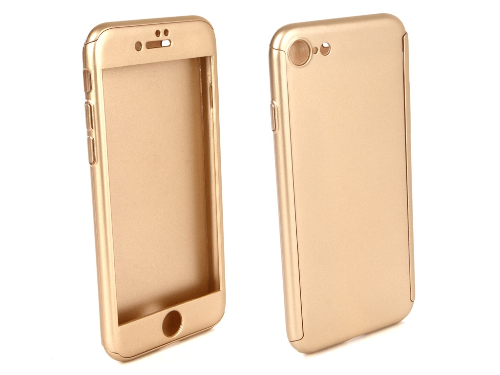 Аксессуар Чехол ZNP для APPLE iPhone 8 360 Degree Gold аксессуар чехол znp для samsung galaxy s9 360 degree pink