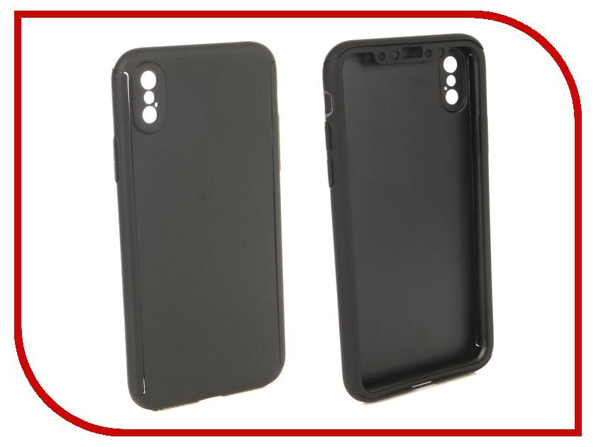 Аксессуар Чехол для APPLE iPhone X ZNP 360 Degree Black