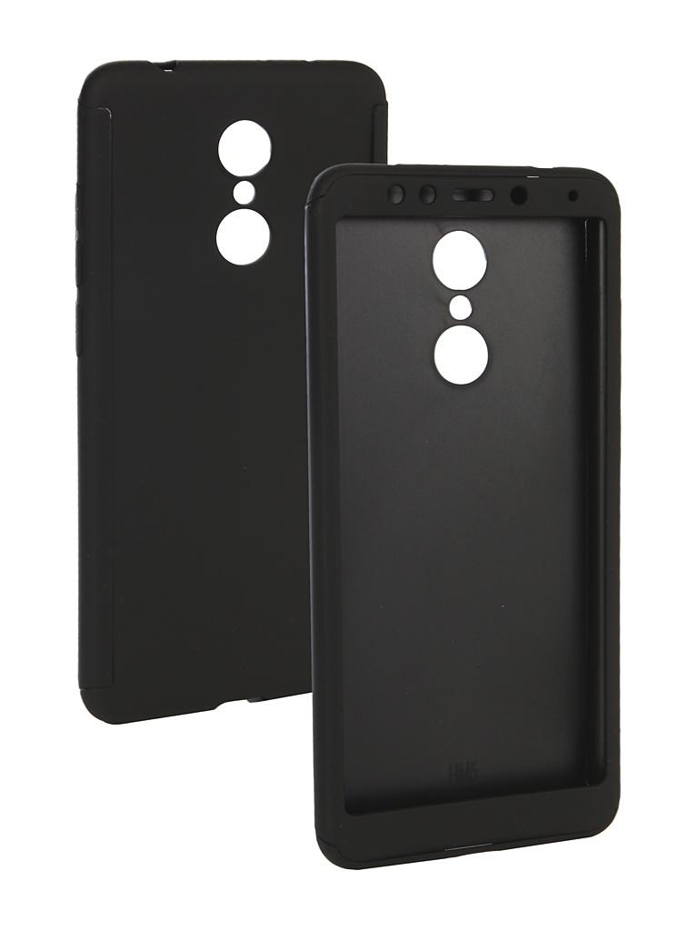 Аксессуар Чехол ZNP для Xiaomi Redmi 5 360 Degree Black аксессуар чехол znp для samsung galaxy s8 360 degree pink
