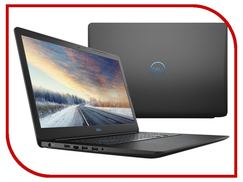 Ноутбук Dell G3 G317-7572 (Intel Core i5-8300H 2.3 GHz/8192Mb/1000Gb + 128Gb SSD/No ODD/nVidia GeForce GTX 1050 4096Mb/Wi-Fi/Cam/17.3/1920x1080/Linux)