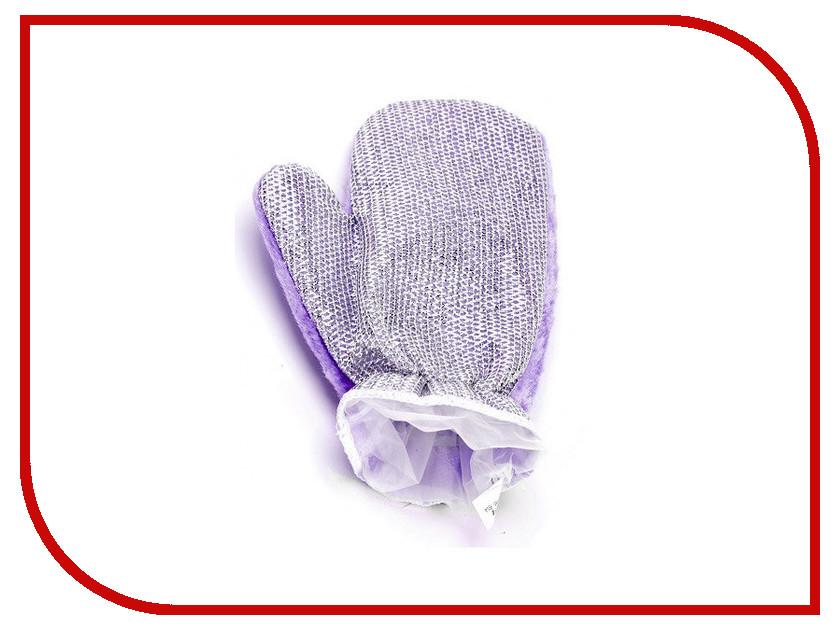 Варежкa для мытья посуды и уборки Bradex Violet TK 0203 органайзер для мытья посуды bradex caddy sink tidy