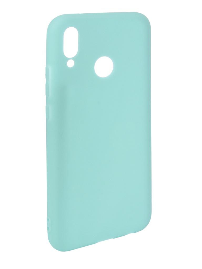 Аксессуар Чехол Pero для Huawei P20 Lite Soft Touch Turquoise PRSTC-P20LC