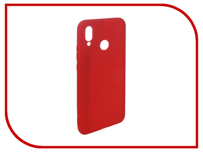 Аксессуар Чехол для Huawei P20 Lite Pero Soft Touch Red PRSTC-P20LR аксессуар чехол для huawei honor p20 lite caseguru soft touch 0 5mm black 103349