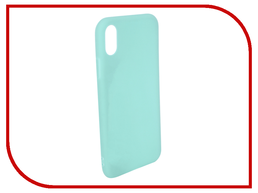 Аксессуар Чехол для APPLE iPhone X Pero Soft Touch Turquoise PRSTC-IXC цена и фото