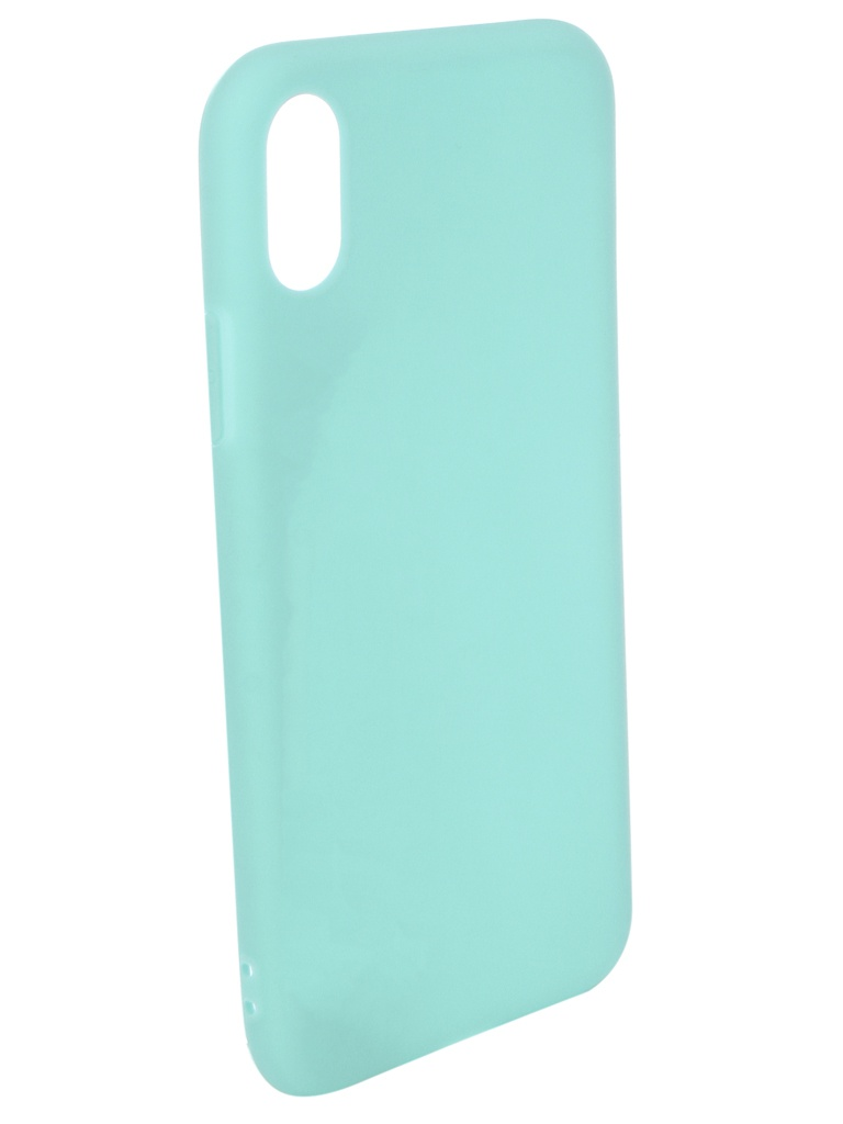 Аксессуар Чехол Pero для APPLE iPhone X Soft Touch Turquoise PRSTC-IXC