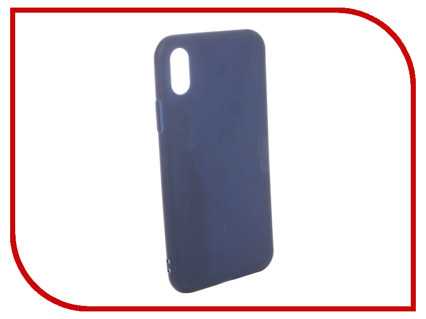 Аксессуар Чехол для APPLE iPhone X Pero Soft Touch Blue PRSTC-IXBL аксессуар чехол caseguru soft touch для apple iphone x 101604