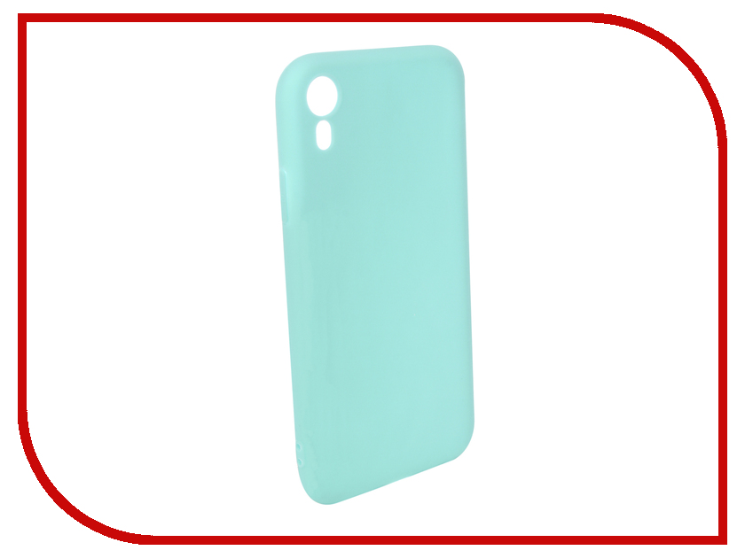 Аксессуар Чехол для APPLE iPhone XR Pero Soft Touch Turquoise PRSTC-IXRC