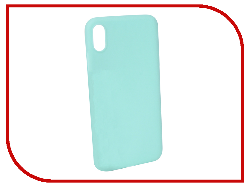 Аксессуар Чехол для APPLE iPhone XS Max Pero Soft Touch Turquoise PRSTC-IXSMC цена и фото