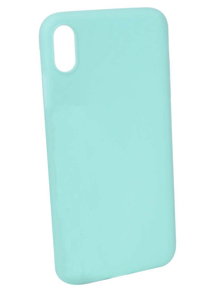 Аксессуар Чехол Pero для APPLE iPhone XS Max Soft Touch Turquoise PRSTC-IXSMC