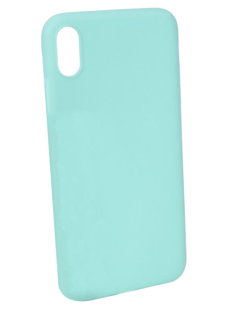 Чехол Pero для APPLE iPhone XS Max Soft Touch Turquoise PRSTC-IXSMC
