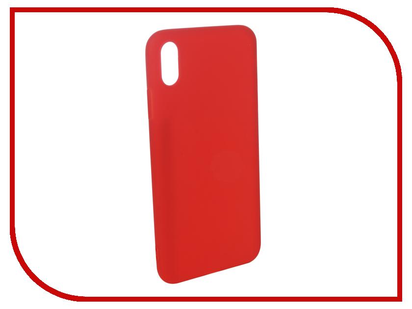 Аксессуар Чехол для APPLE iPhone XS Max Pero Soft Touch Red PRSTC-IXSMR аксессуар чехол для xiaomi mi max 2 pero soft touch black prstc mmax21b