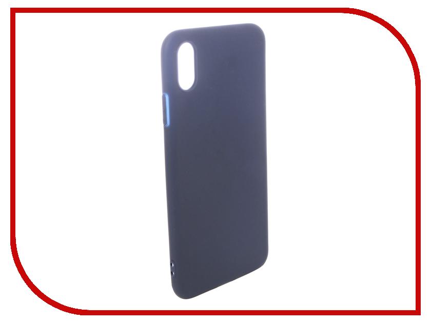 Аксессуар Чехол для APPLE iPhone XS Max Pero Soft Touch Blue PRSTC-IXSMBL аксессуар чехол для xiaomi mi max 2 pero soft touch black prstc mmax21b