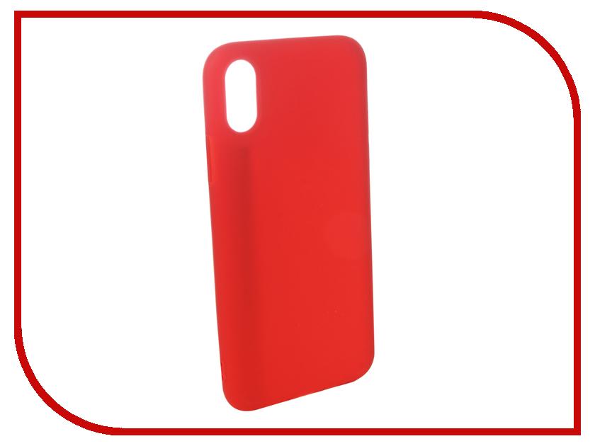 Аксессуар Чехол для APPLE iPhone XS Pero Soft Touch Red PRSTC-IXSR аксессуар чехол pero для apple iphone 5 5s se pero black prstc i5b