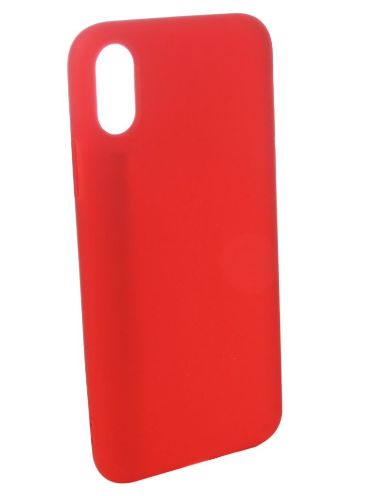 Аксессуар Чехол Pero для APPLE iPhone XS Soft Touch Red PRSTC-IXSR аксессуар чехол для apple iphone x pero soft touch turquoise prstc ixc