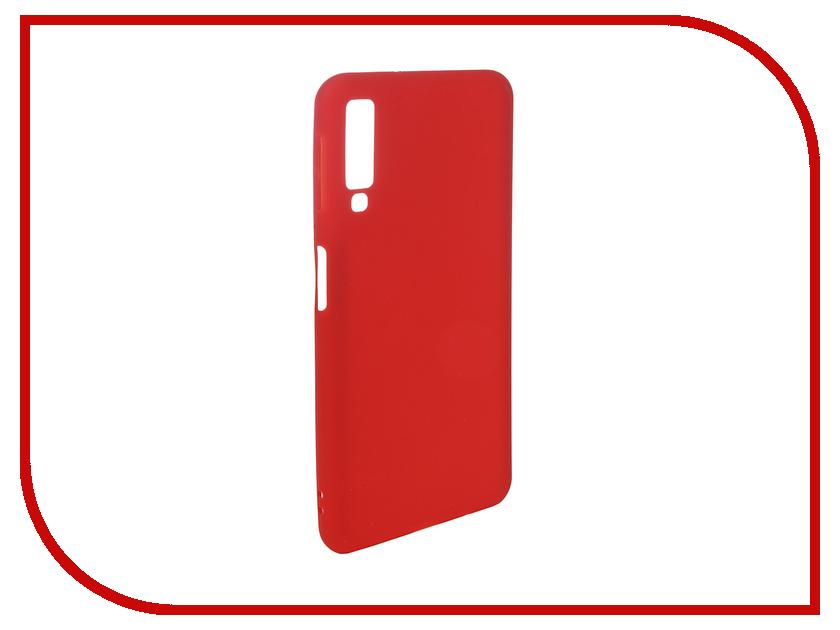 Аксессуар Чехол для Samsung Galaxy A7 2018 Pero Soft Touch Red PRSTC-A718R аксессуар чехол для samsung j8 2018 pero soft touch black prstc j818b