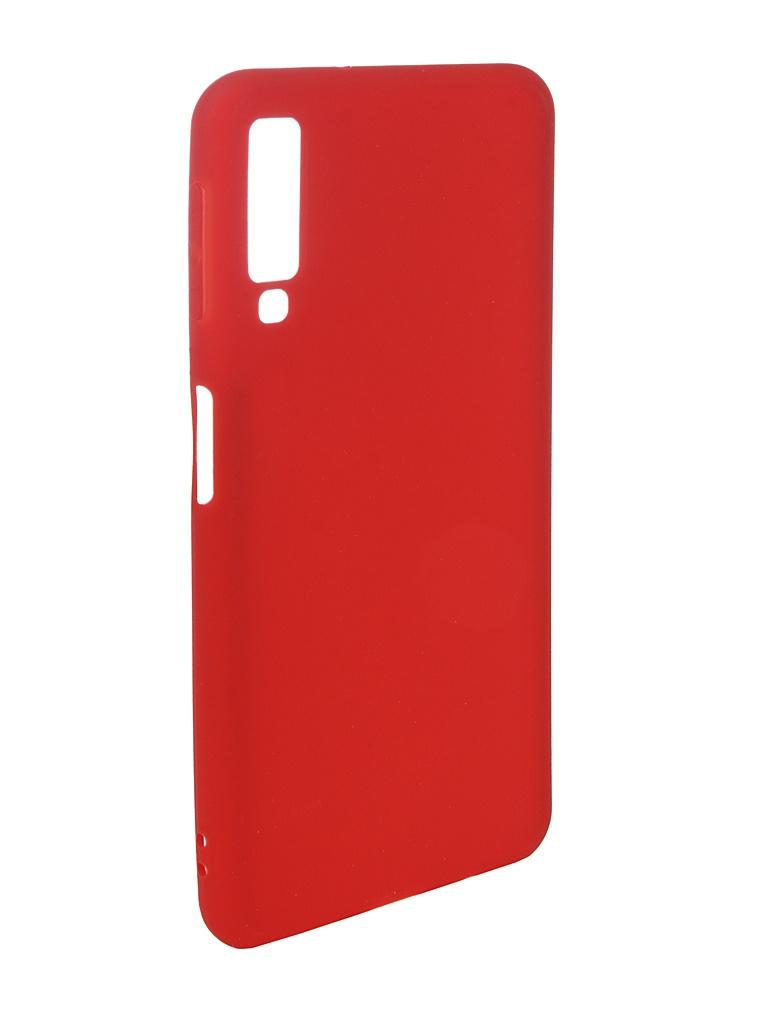 Фото - Аксессуар Чехол Pero для Samsung Galaxy A7 2018 Soft Touch Red PRSTC-A718R аксессуар чехол для samsung galaxy a7 2018 pero soft touch red prstc a718r