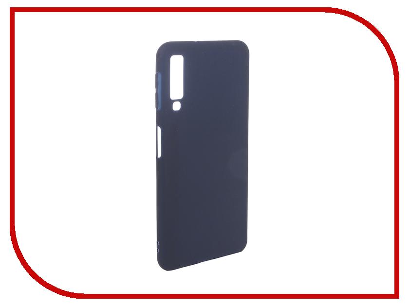 Аксессуар Чехол для Samsung Galaxy A7 2018 Pero Soft Touch Blue PRSTC-A718BL цена и фото