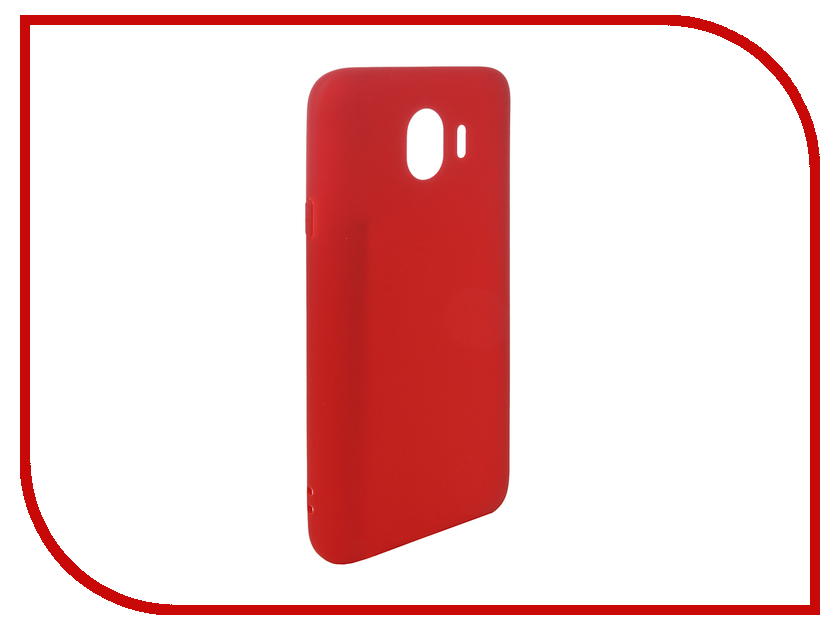 Аксессуар Чехол для Samsung Galaxy J4 2018 Pero Soft Touch Red PRSTC-J418R аксессуар чехол для samsung galaxy s8 plus pero soft touch black prstc s8pb