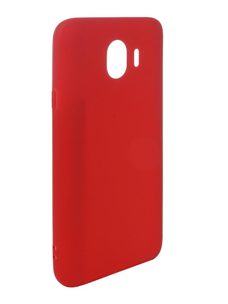 Аксессуар Чехол Pero для Samsung Galaxy J4 2018 Soft Touch Red PRSTC-J418R аксессуар чехол для samsung galaxy j8 2018 pero soft touch red prstc j818r