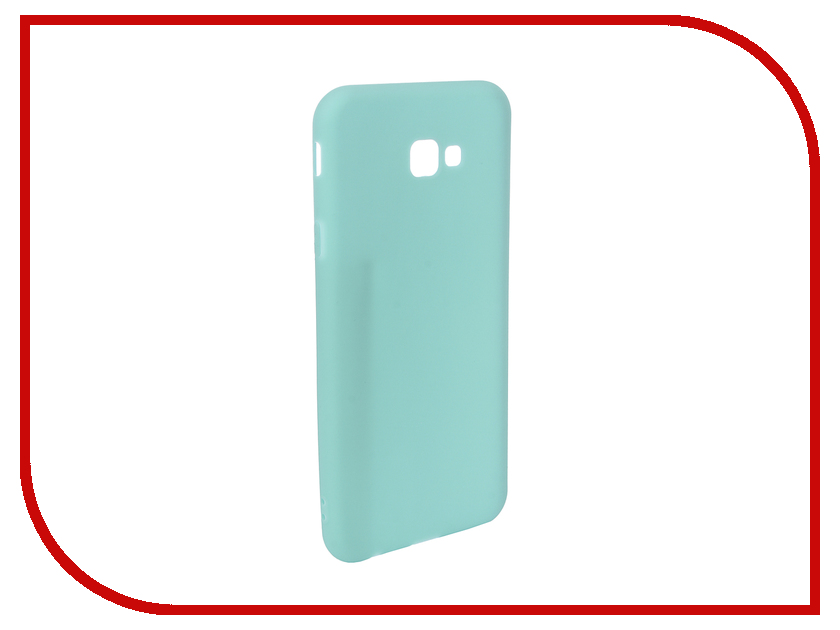 Аксессуар Чехол для Samsung Galaxy J4 Plus 2018 Pero Soft Touch Turquoise PRSTC-J418PC цена и фото