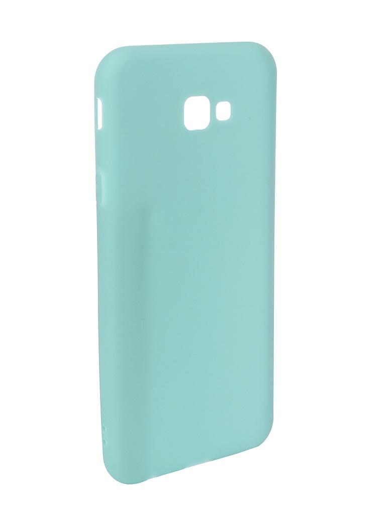 Чехол Pero для Samsung Galaxy J4 Plus 2018 Soft Touch Turquoise PRSTC-J418PC