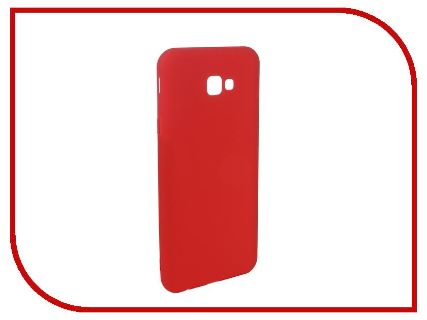 Аксессуар Чехол для Samsung Galaxy J4 Plus 2018 Pero Soft Touch Red PRSTC-J418PR цена и фото