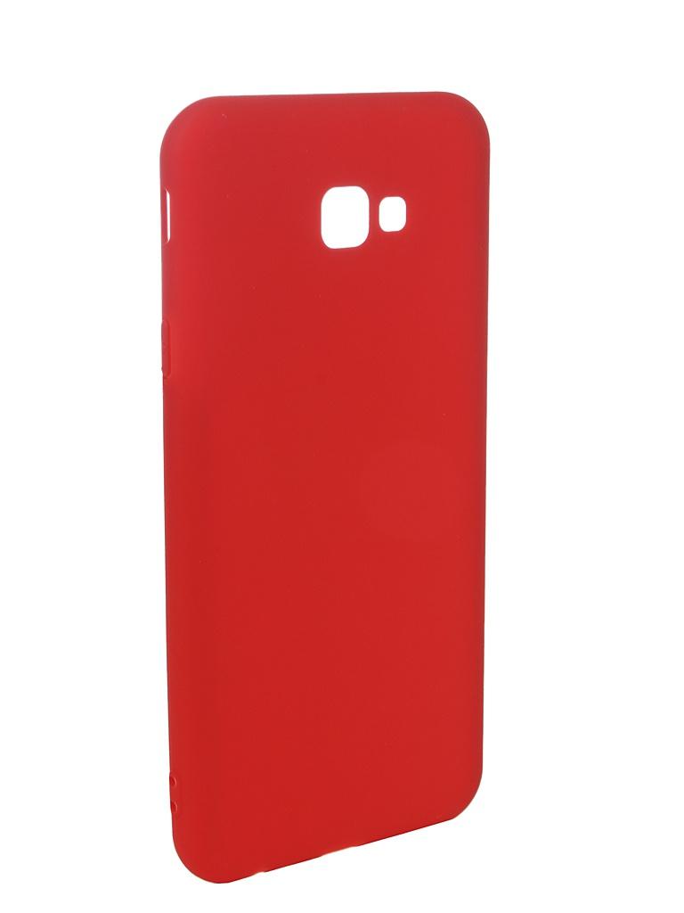 Фото - Аксессуар Чехол Pero для Samsung Galaxy J4 Plus 2018 Soft Touch Red PRSTC-J418PR аксессуар чехол для samsung galaxy a7 2018 pero soft touch red prstc a718r