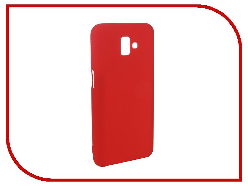 Аксессуар Чехол для Samsung Galaxy J6 Plus 2018 Pero Soft Touch Red PRSTC-J618PR цена и фото