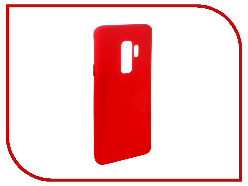 Аксессуар Чехол для Samsung Galaxy S9 Plus Pero Soft Touch Red PRSTC-S9PR аксессуар чехол для samsung j8 2018 pero soft touch black prstc j818b