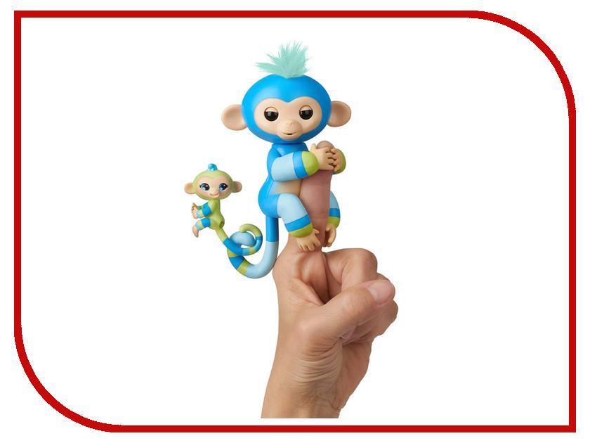 Игрушка WowWee Fingerlings Ручная обезьянка с малышом Билли Blue 3541
