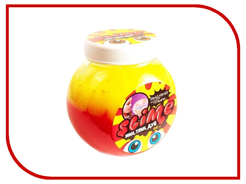 Игрушка антистресс Лизун Slime Mega Mix 500гр Yellow/Strawberry S500-2 nutrend bcaa nutrend mega strong powder 500гр