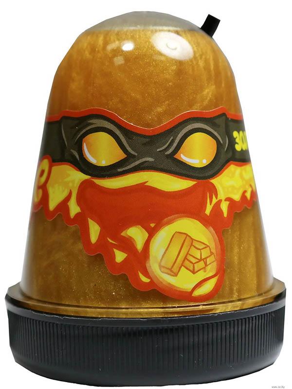 Игрушка антистресс Лизун Slime Ninja 130гр Gold S130-11