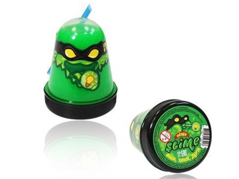 Слайм Slime Ninja 130гр светится в темноте Green S130-18