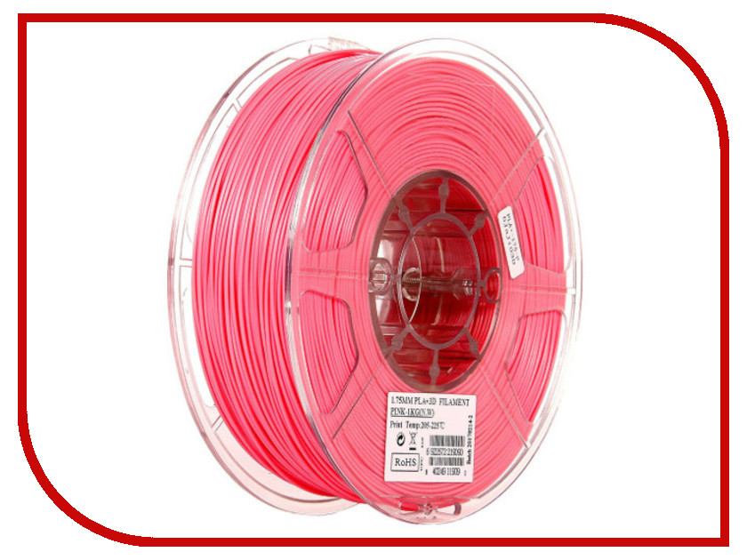 Аксессуар eSun PLA+ нить 1.75mm 1kg Pink Т0026299 esun pla пластик в катушке gold pla175j1