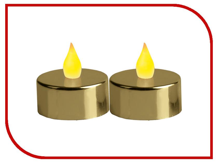 Светодиодная свеча Star Trading LED T-Light 2 шт Gold-Metal 066-05 stylish metal star windchime