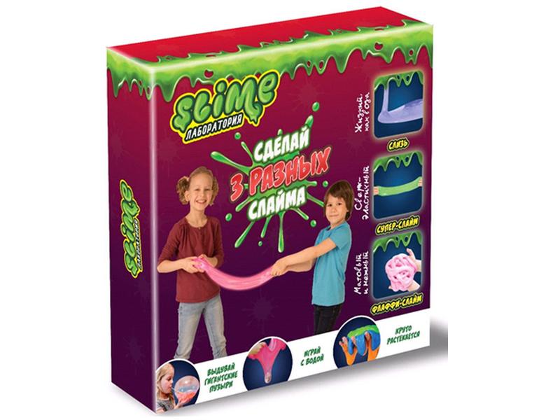 Игра Лизун Slime Лаборатория Средний набор 3 в 1 300гр SS300-1
