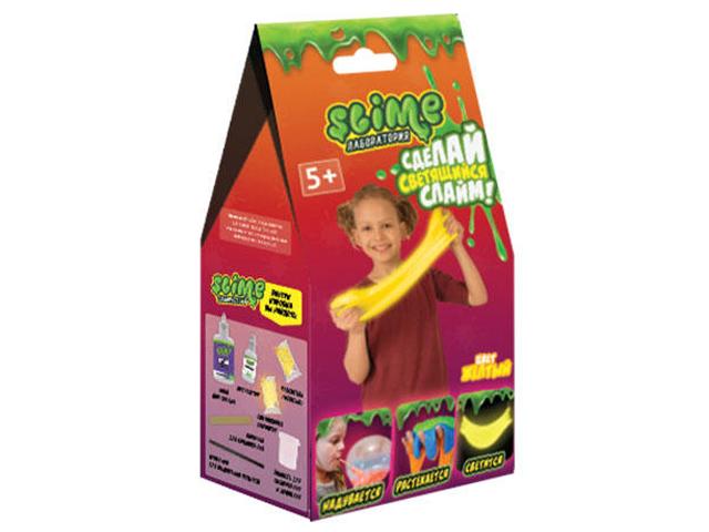 Игра Лизун Slime Лаборатория Малый набор для девочек 100гр Yellow SS100-1