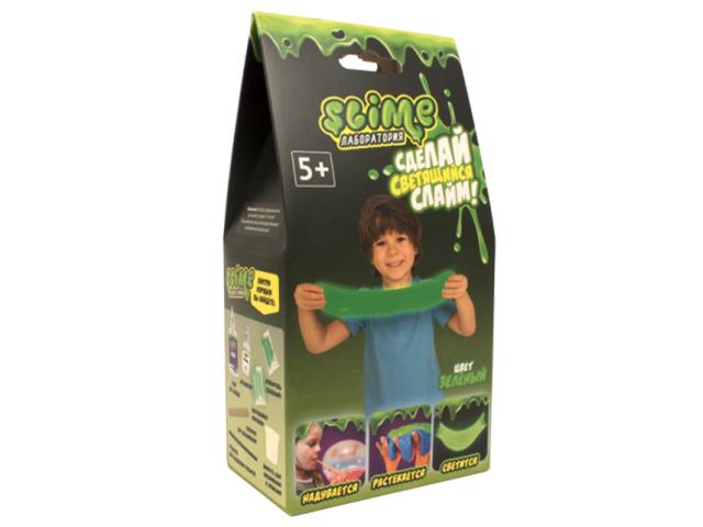 Игра Лизун Slime Лаборатория Малый набор для мальчиков 100гр Green SS100-4