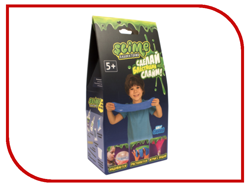 Игра Лизун Slime Лаборатория Малый набор для мальчиков 100гр Blue SS100-5 волшебный мир набор средний slime 3 в 1 лаборатория