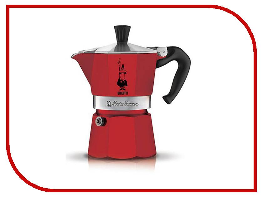 Кофеварка Bialetti Moka Express Rossa 3 порции 4942 гейзерная кофеварка bialetti moka express 3 порции 1162